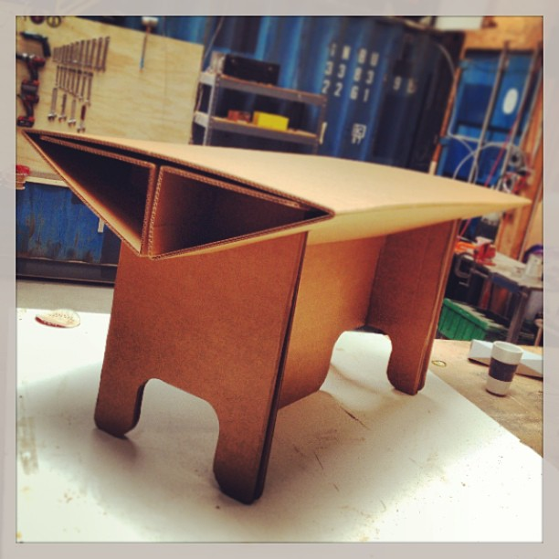 Cardboard Kids Table Prototype #herodesign