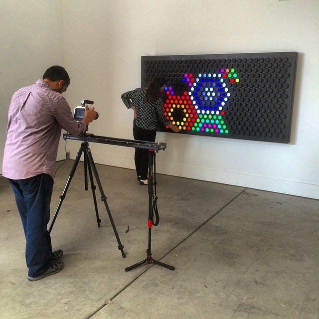 Romy shooting Jody playing with the Everbright #herodesign